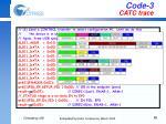 code 3 catc trace