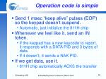 operation code is simple