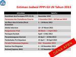 estimasi jadwal p ppi s3 ln tahun 20 1 3