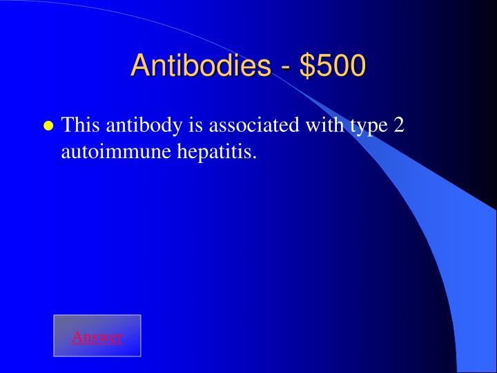 Antibodies - $500