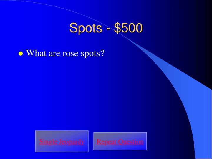 Spots - $500