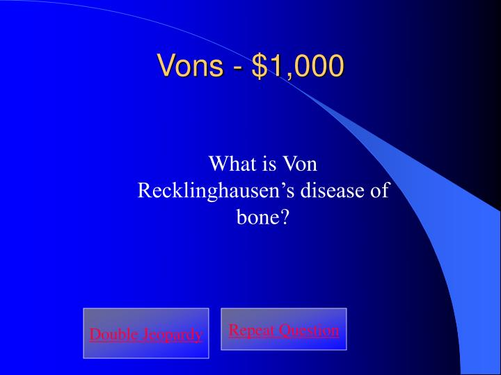 Vons - $1,000