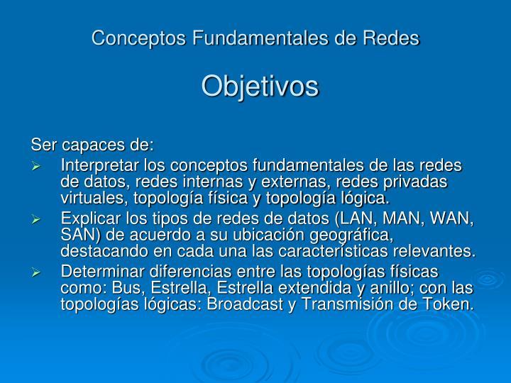 Conceptos fundamentales de redes