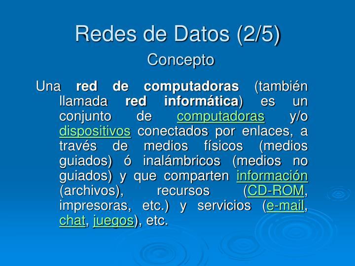 Redes de Datos (2/5)