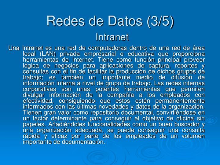 Redes de Datos (3/5)
