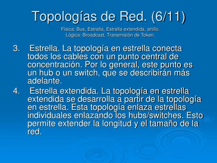 Topologías de Red. (6/11)