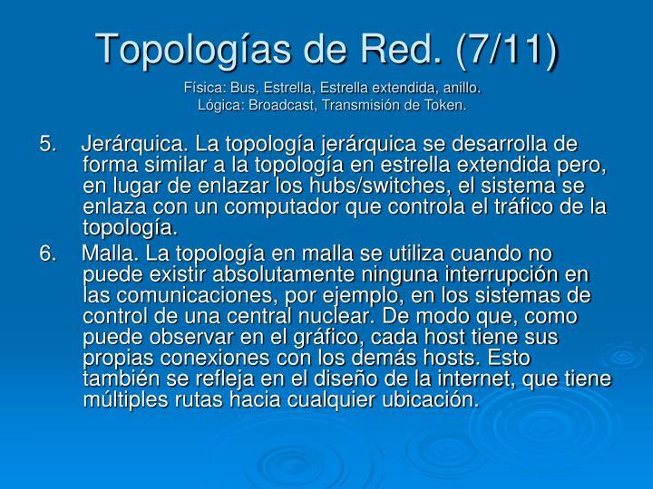 Topologías de Red. (7/11)