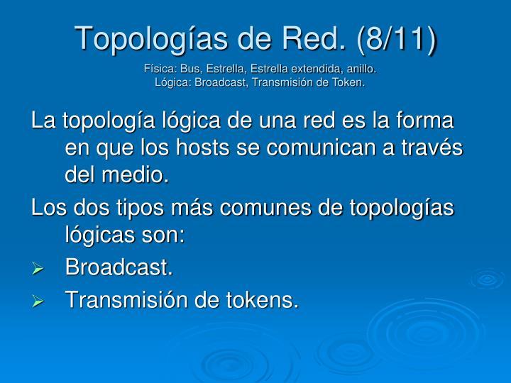 Topologías de Red. (8/11)