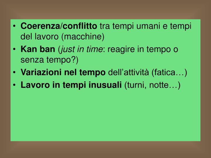 Coerenza/conflitto