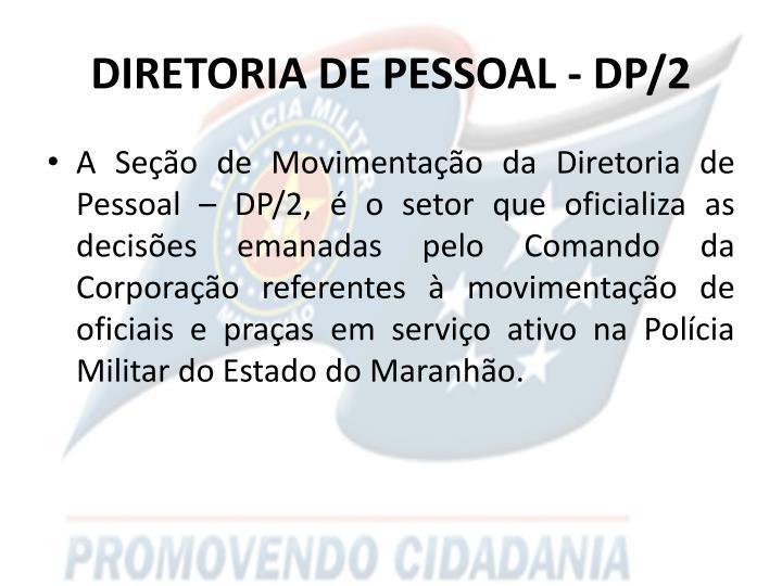 Diretoria de pessoal dp 2