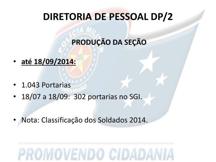 DIRETORIA DE PESSOAL DP/2