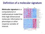 definition of a molecular signature