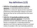 key definitions 1 2