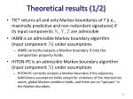 theoretical results 1 2