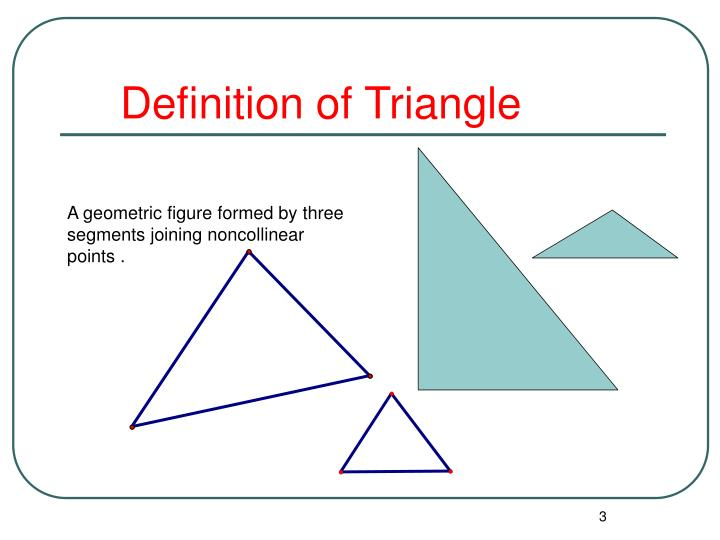 Definition of Triangle