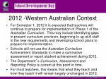 2012 western australian context