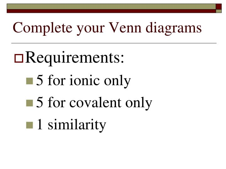 34 ionic and covalent bonds venn diagram