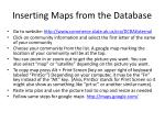inserting maps from the database
