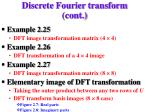 discrete fourier transform cont