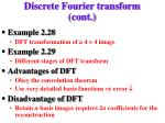 discrete fourier transform cont1