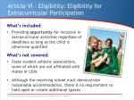 article vi eligibility eligibility for extracurricular participation