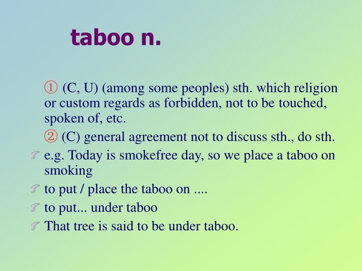 taboo n.