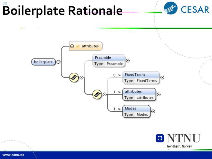 Boilerplate Rationale