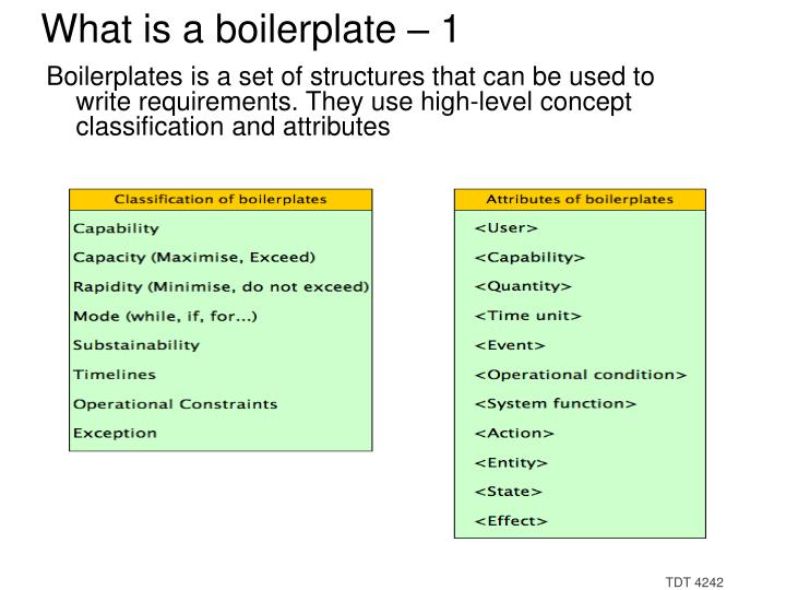 What is a boilerplate – 1