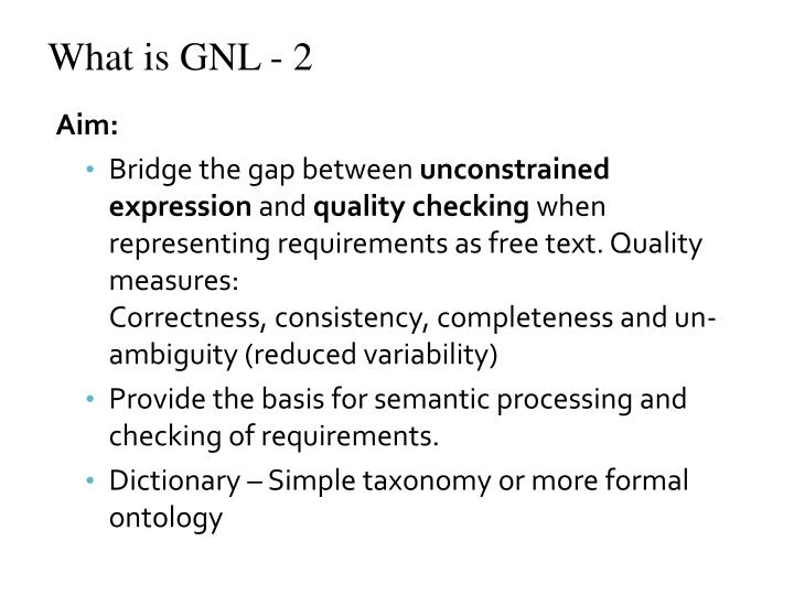 What is GNL - 2