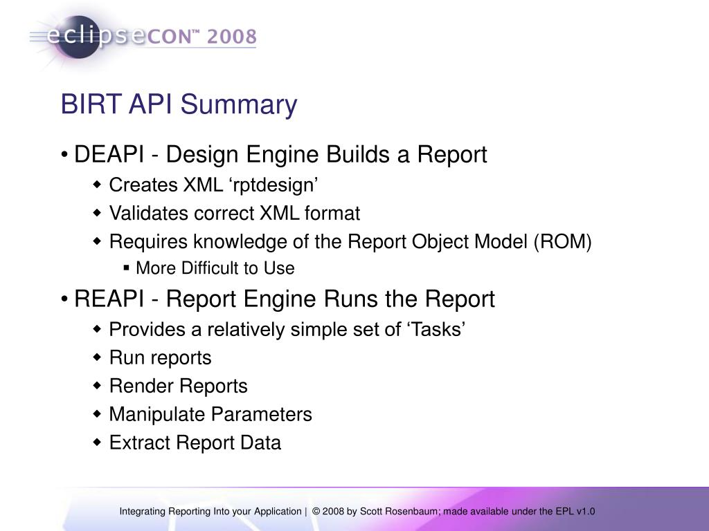 PPT - Integrating Reporting into your Application PowerPoint
