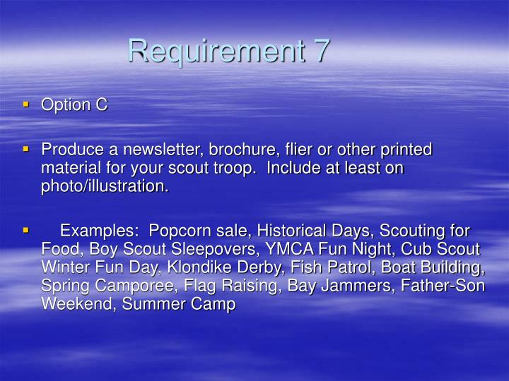 Requirement 7