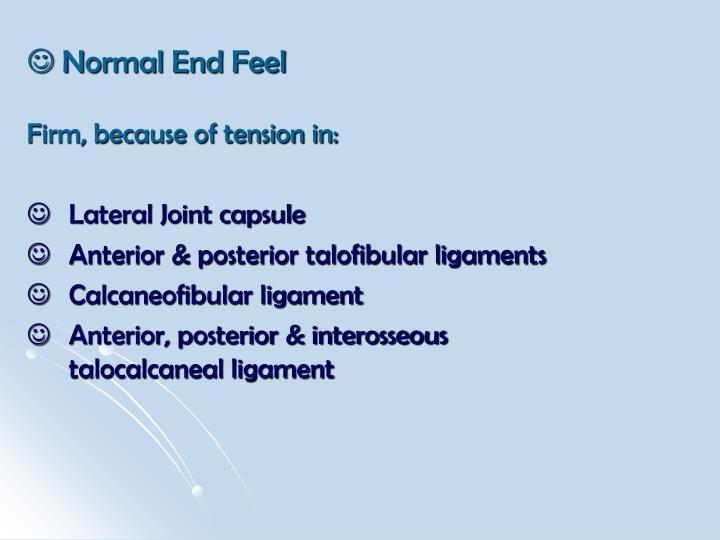  Normal End Feel
