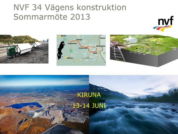 NVF 34 Vägens konstruktion