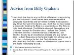 advice from billy graham