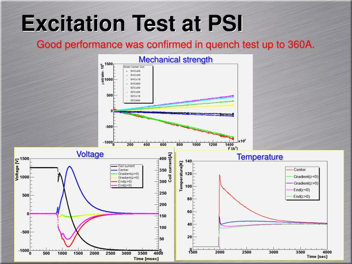 Excitation Test at PSI