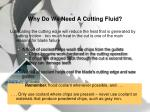 why do we need a cutting fluid