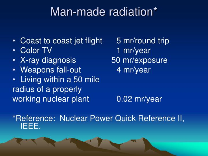 Man-made radiation*