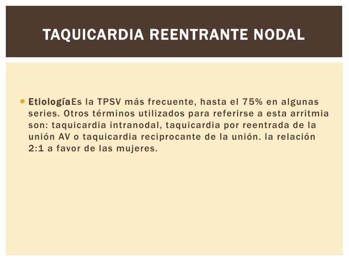 Taquicardia reentrante nodal