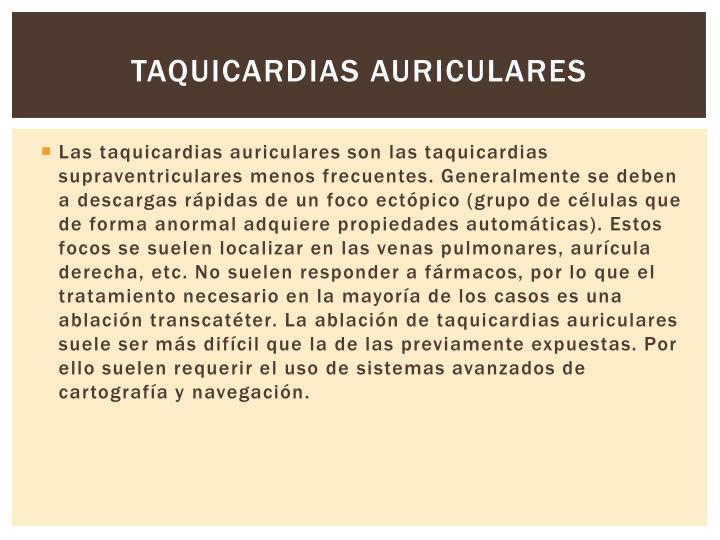 Taquicardias auriculares