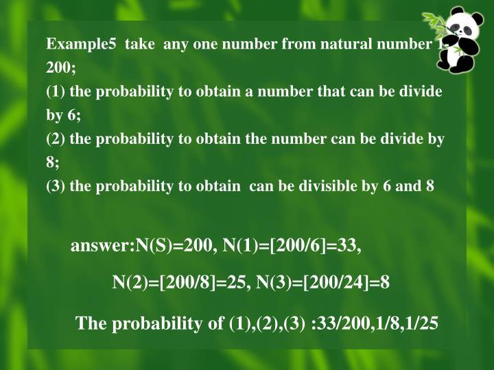 answer:N(S)=200, N(1)=[200/6]=33,
