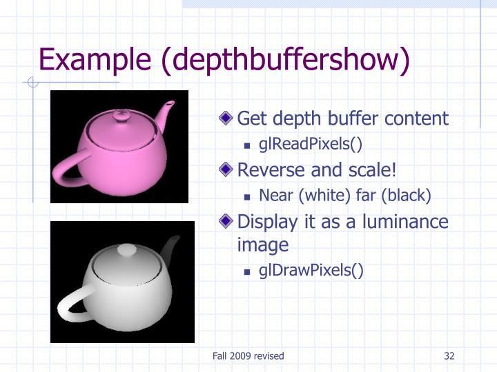 Get depth buffer content