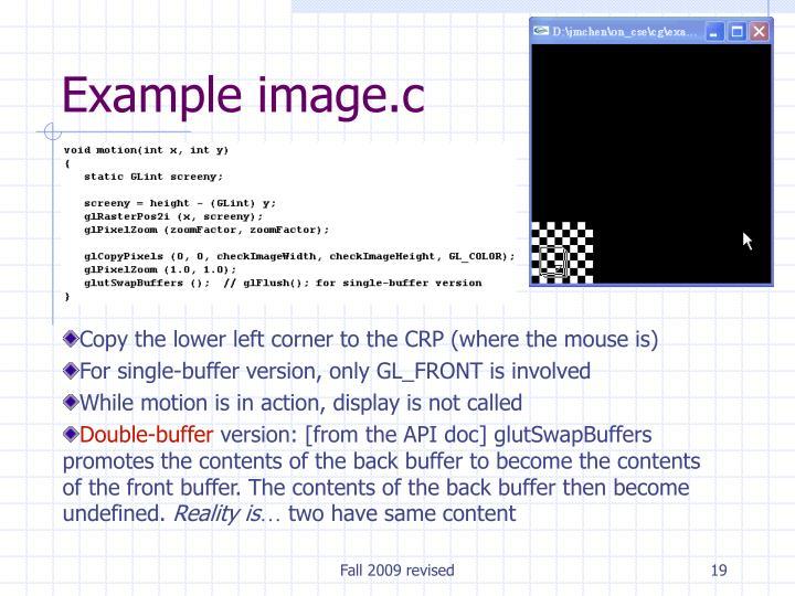 Example image.c