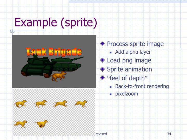 Process sprite image
