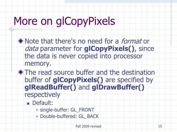 More on glCopyPixels