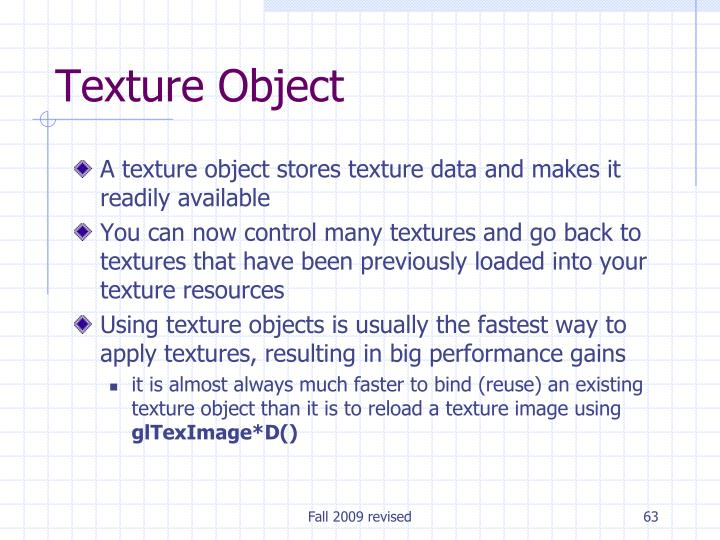 Texture Object