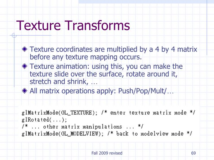 Texture Transforms