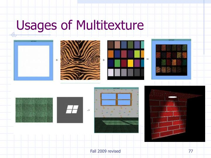 Usages of Multitexture