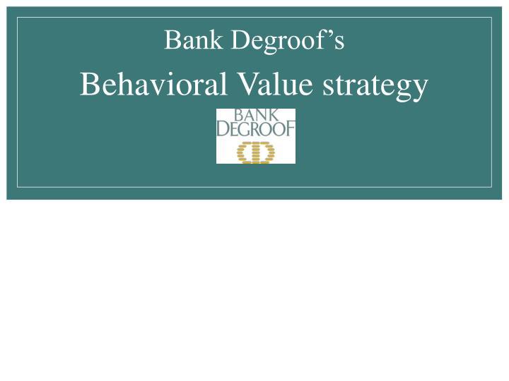 Bank Degroof's