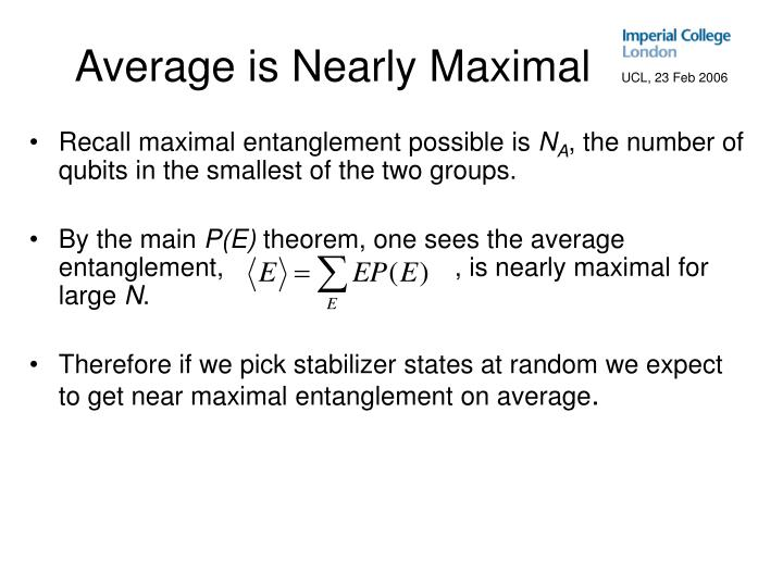 Average is Nearly Maximal