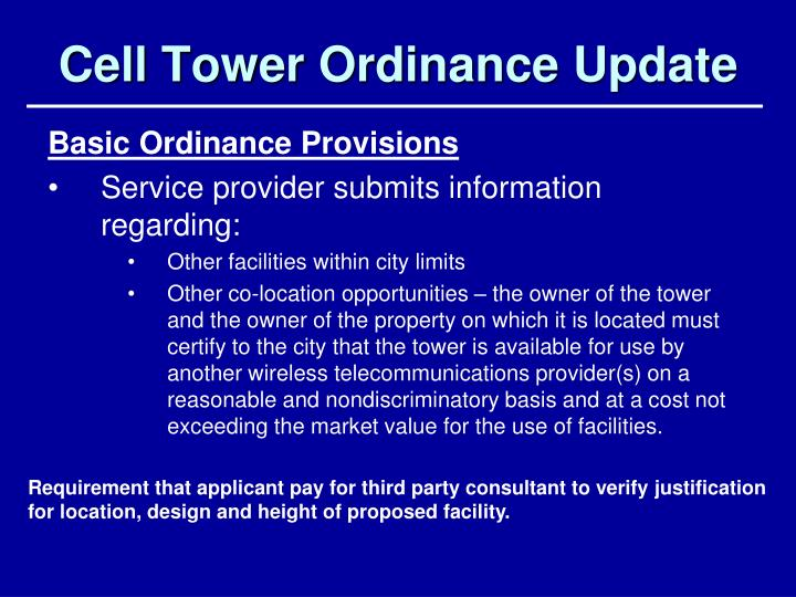 cell tower ordinance update n.